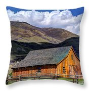 Historic Barn - Wasatch Front Throw Pillow