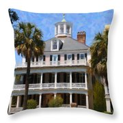 Historic Battery Home Throw Pillow