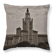 Historic Biltmore Hotel Throw Pillow