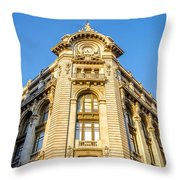 Historic Building Facade Throw Pillow