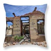Historic Building Nine Mile Canyon - Utah Throw Pillow