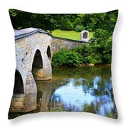 Historic Burnside Bridge Throw Pillow