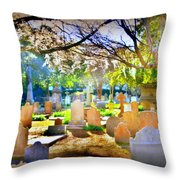 Historic Cemetery  Throw Pillow