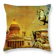 Historic Center Of Saint Petersburg Throw Pillow
