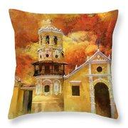 Historic Center Of Santa Cruz De Mompox Throw Pillow