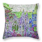 Historic Churches St Louis Mo - Digital Effect 4 Throw Pillow