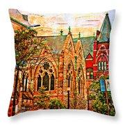 Historic Churches St Louis Mo - Digital Effect 6 Throw Pillow