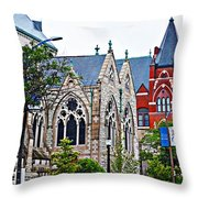 Historic Churches St. Louis Mo 1 Throw Pillow