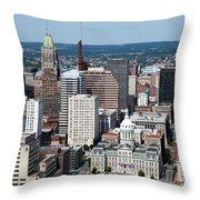 Historic City Centre Baltimore Throw Pillow
