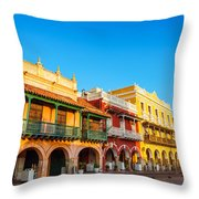 Historic Colonial Facades Throw Pillow
