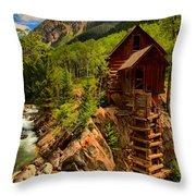 Historic Colorado Throw Pillow