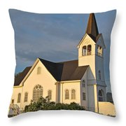 Historic Country Church Art Prints Throw Pillow