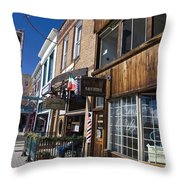 Historic Downtown Truckee California Throw Pillow
