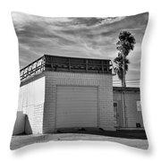 Historic Estrella Gas Station Desert Hot Springs Throw Pillow