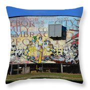 Historic Faces Of Ybor City Throw Pillow