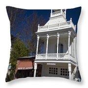 Historic Firehouse No. 1 Nevada City California Throw Pillow