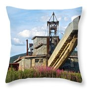 Historic Gold Dredge In Chicken-ak  Throw Pillow