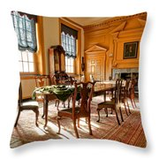 Historic Governor Council Chamber Throw Pillow by Olivier Le Queinec