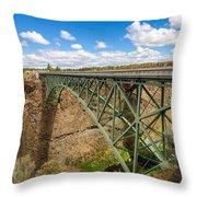 Historic Highway Bridge Throw Pillow