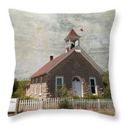 Historic Hinerville School  House  Throw Pillow