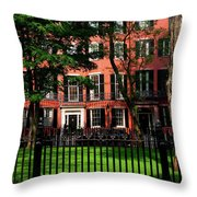 Historic Homes Of Beacon Hill, Boston Throw Pillow
