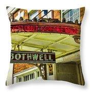 Historic Hotel Bothwell Throw Pillow