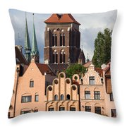 Historic Houses In Gdansk Throw Pillow