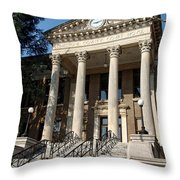 Historic Limestone County Courthouse In Athens Alabama Throw Pillow
