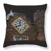 Historic London Clock Throw Pillow