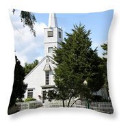 Historic Mystic Church - Connecticut Throw Pillow