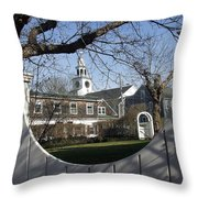 Historic Nantucket Church Throw Pillow