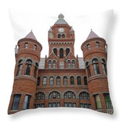 Historic Old Red Courthouse Dallas #1 Throw Pillow