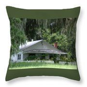 Historic Overstreet Homestead Kissimmee Florida Throw Pillow
