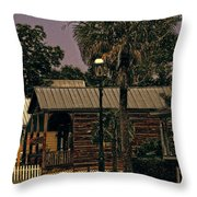 Historic Pensacola Muted Tones Throw Pillow