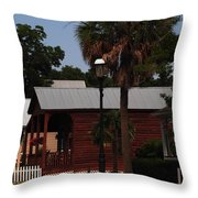 Historic Pensacola Street Throw Pillow