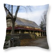 Historic Plymouth Meeting Friends Throw Pillow by Bill Cannon