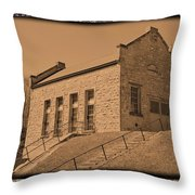 Historic Power Sepia Throw Pillow