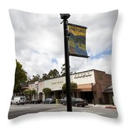Historic Saratoga Village Throw Pillow