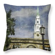 Historic Savannah Church Throw Pillow