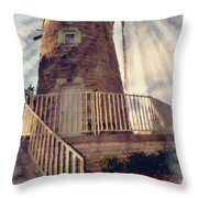 Historic Schonhoff Dutch Mill Throw Pillow
