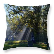 Historic Sibley Cemetery At Fort Osage Missouri Throw Pillow