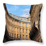Historic Tenement Houses In Budapest Throw Pillow