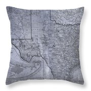 Historic Texas Map Throw Pillow by Dan Sproul