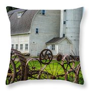 Historic Uniontown Washington Dairy Barn Throw Pillow