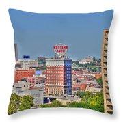 Historic Western Auto Building Kansas City  Missouri Throw Pillow