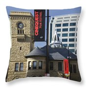 Historic Wing Of The San Jose Art Museum Throw Pillow