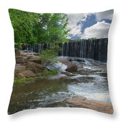 Historic Yates Mill Dam - Raleigh N C Throw Pillow
