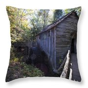 Historical 1868 Cades Cove Cable Mill Throw Pillow