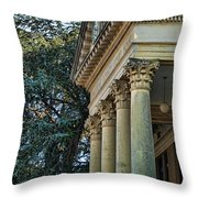 Historical Athens Alabama Courthouse Throw Pillow