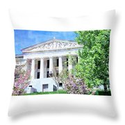 Historical Museum In Spring Throw Pillow